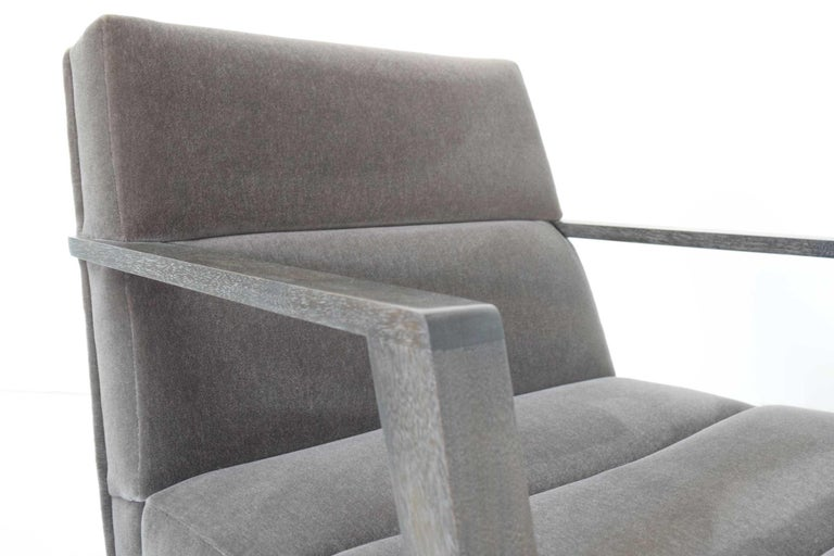 Elana Chair by Bright in Mohair For Sale 1