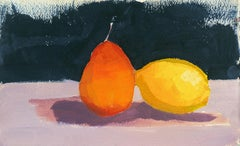 Still Life of Lemon and Pear