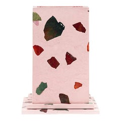 Elara Pink Gemstone Terrazzo Pillar Vase