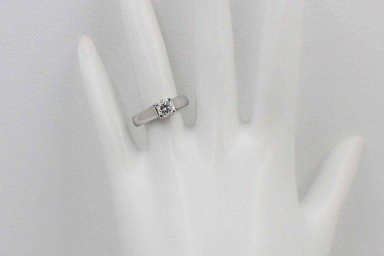 Elara Radiant Diamond Engagement Solitaire Ring 0.71 Carat I VVS1 in Platinum For Sale 2