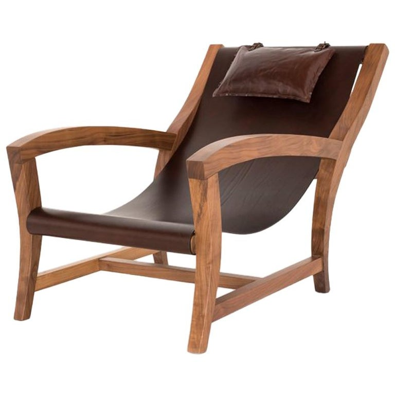 Elba, Deckchair Inspiration, Leather And Canaletto Walnut