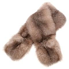 Elcom Beige Fox Fur Wrap Stole