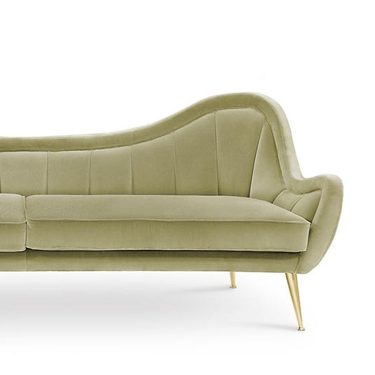 Super Eldorado Sofa With Cotton Velvet In Mandel Green Finish Cjindustries Chair Design For Home Cjindustriesco