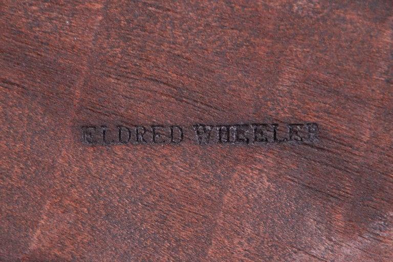 Eldred Wheeler Queen Anne Cherry Wood Tilt Top Pedestal Dining Table, Refinished For Sale 5