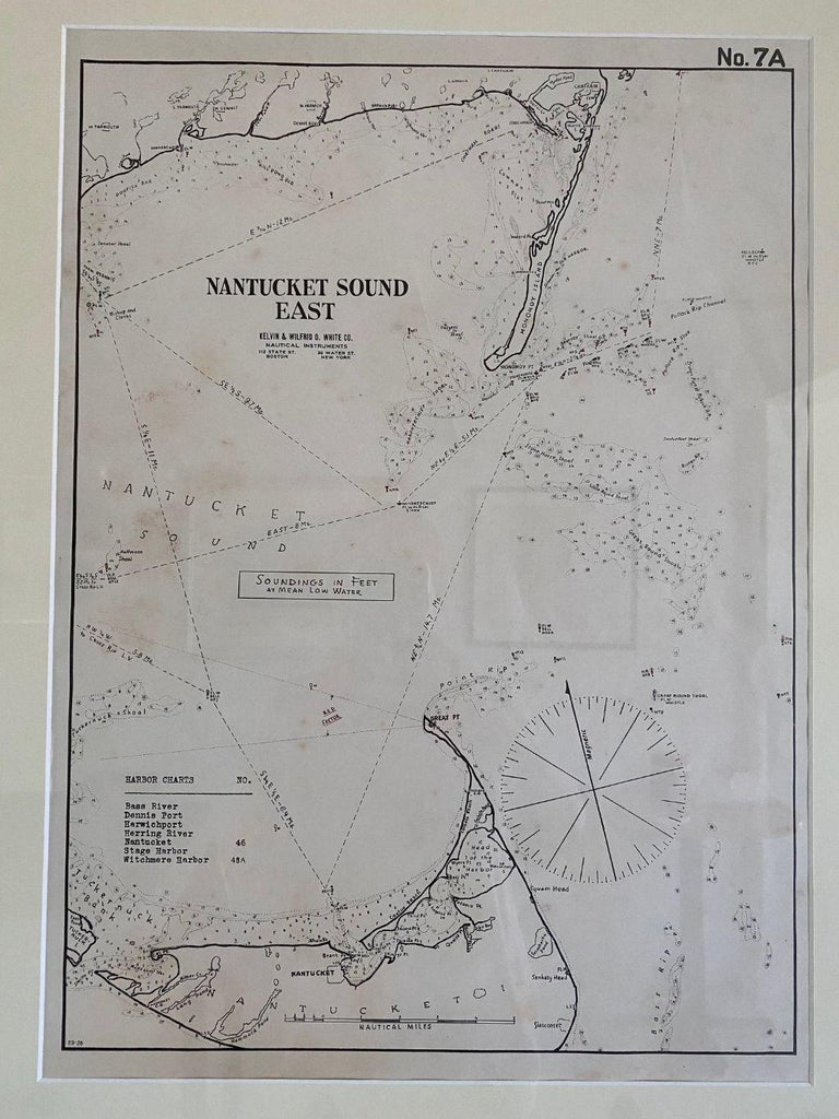 Other Eldridge Chart of Nantucket Sound – East, circa 1920 For Sale