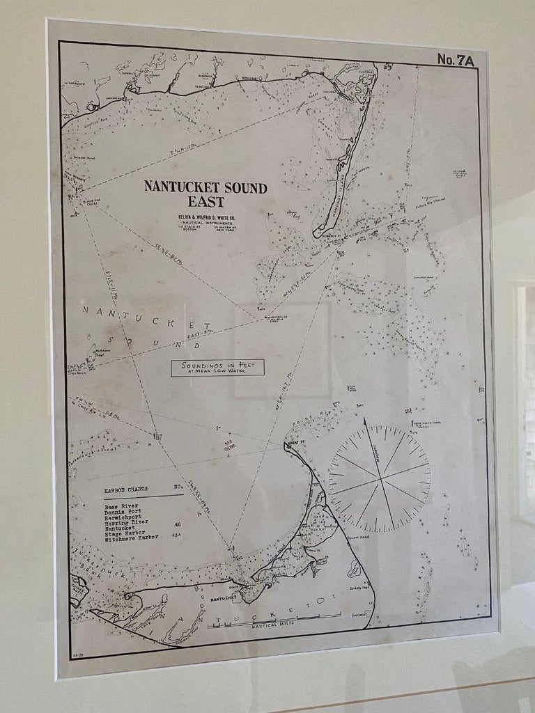 American Eldridge Chart of Nantucket Sound – East, circa 1920 For Sale