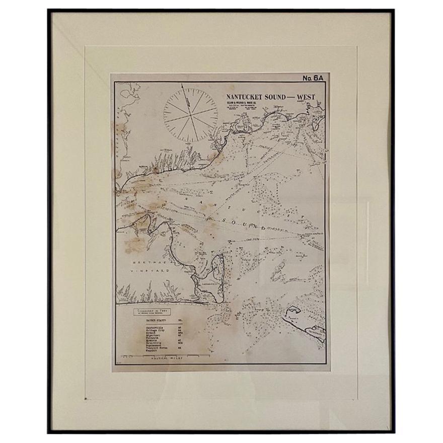Eldridge Chart of Nantucket Sound – West, circa 1920