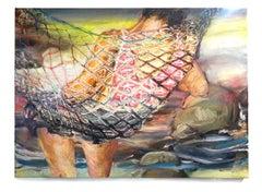 Sleeping Adonis - Eleanor Aldrich - 30 x 40 - Mixed Media on Canvas, 2019