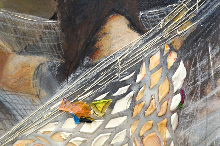 The Net Hammock - Eleanor Aldrich - Contemporary - Painting - Figure - Texture For Sale 5