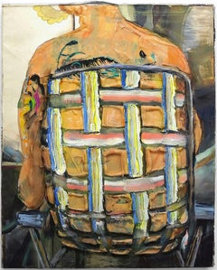 Fat Back with Tattoos - Eleanor Aldrich - Contemporary Abstract Oil Painting