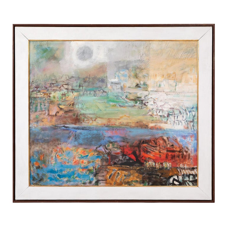 Eleanor Coen Expressionist Urban Landscape Painting For Sale