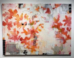 Primavera, Abstract, Acrylic & Charcoal,30x40,Texas artist, Spring Cool Colors