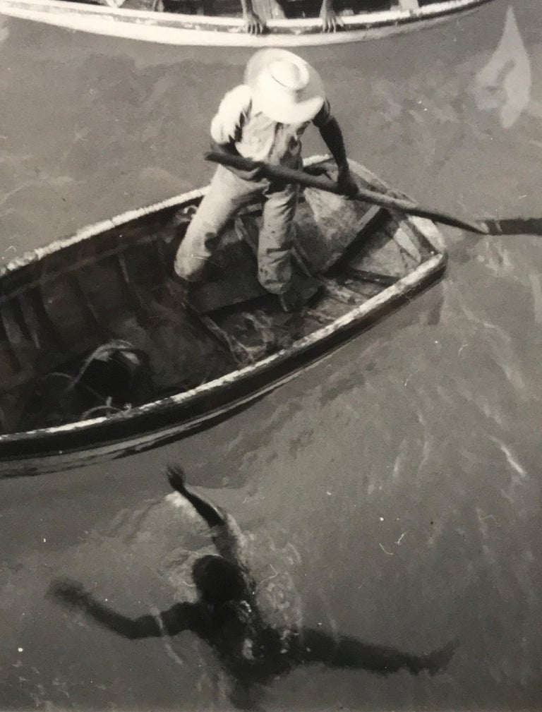 Diving Boats - Gray Black and White Photograph by Eleanor Parke Custis