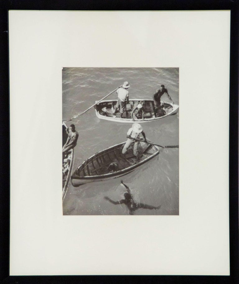 Eleanor Parke Custis Black and White Photograph - Diving Boats