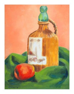 Apple and Whiskey Still Life
