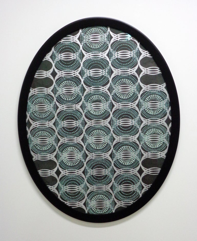 Untitled Large Oval, Mixed Material On