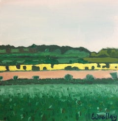 Eleanor Woolley, From the Rollrights, Original Cotswold Landscape Painting