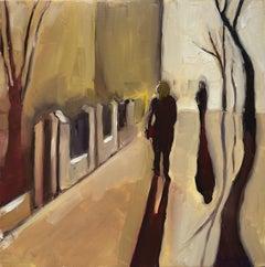 Eleanor Woolley, Street Shadows 1, Landscape Art, Cityscape Art, Affordable Art