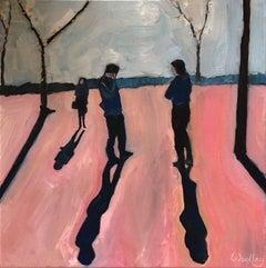 Eleanor Woolley, Street Shadows 2, Affordable Art, Figurative Art