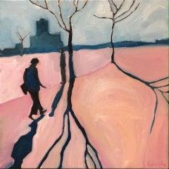 Eleanor Woolley, Street Shadows 3, Affordable Art, Figurative Art