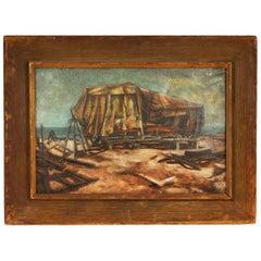 "Eleanore Mizzy ""Serenity"" American Regionalist Oil on Canvas"