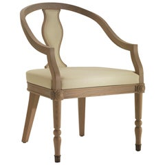 Electress Dining Armchair in Natural Oak Finish