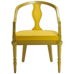 Electress Dining Armchair in Yellow Lacquered Finish