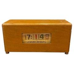 Electric Art Deco Wooden Advertising Flip Clock