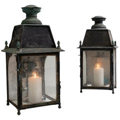 Electrified Copper Lanterns 'or Candle lit'