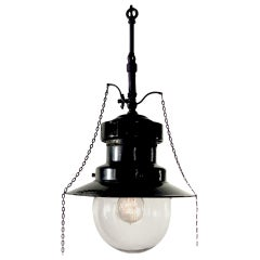 Electrified Porcelain Gas Lamp