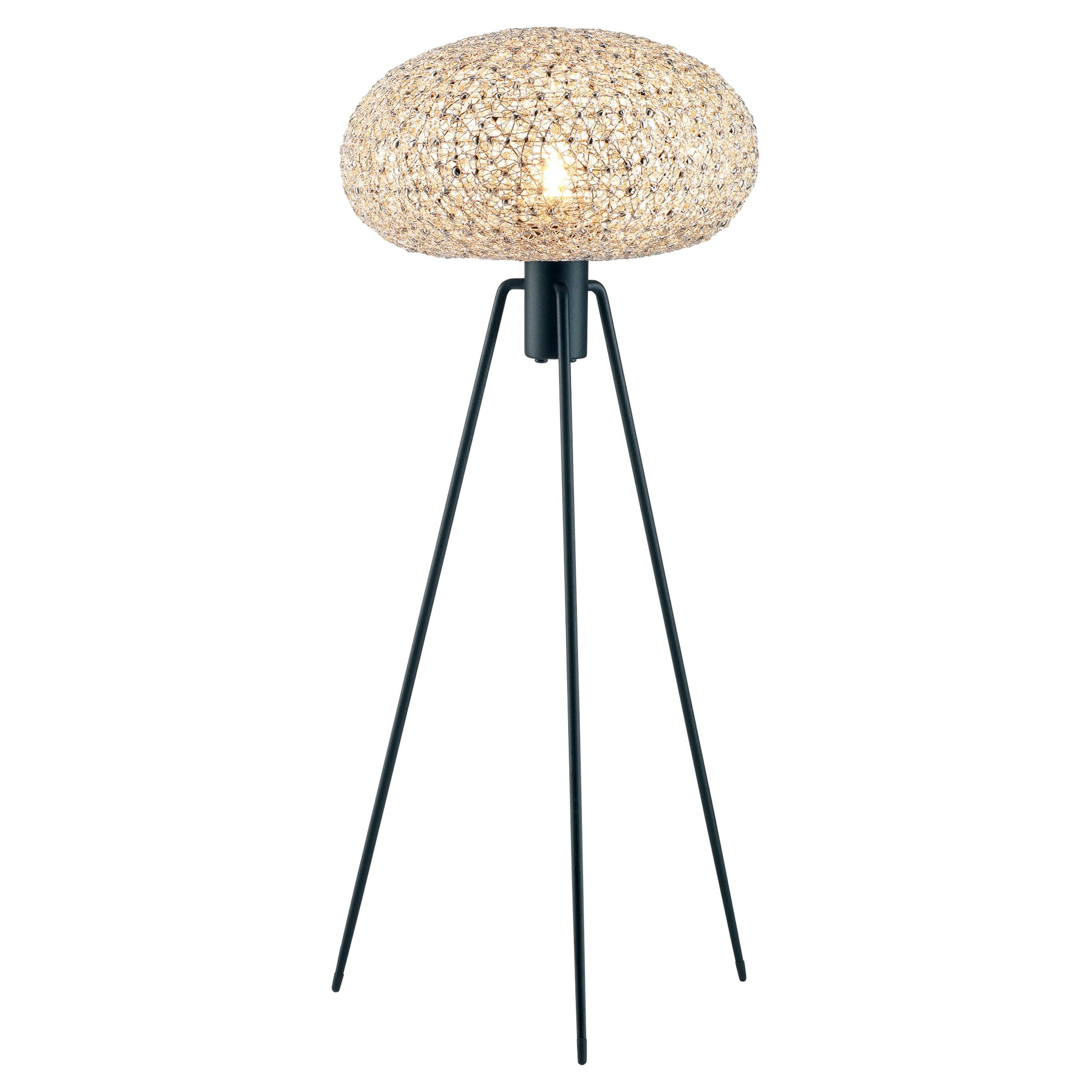 Electro T by Ango, Unique Table Lamp in Hand Crafted Jewellery Technique