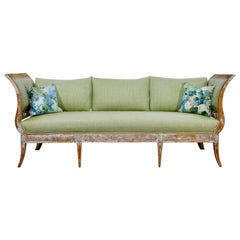 Elegant 18th Century Gustavian Dry Scraped Sofa Lindome, circa 1790