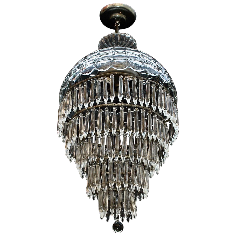 Elegant 1940s Crystal Light