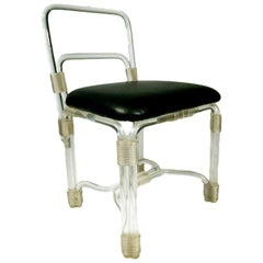 Elegant 1940s Lucite Side Chair by Grosfeld House