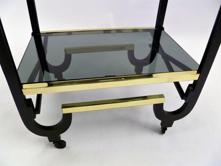 Elegant 1940s Streamline Moderne Bar Tea Cart For Sale 1