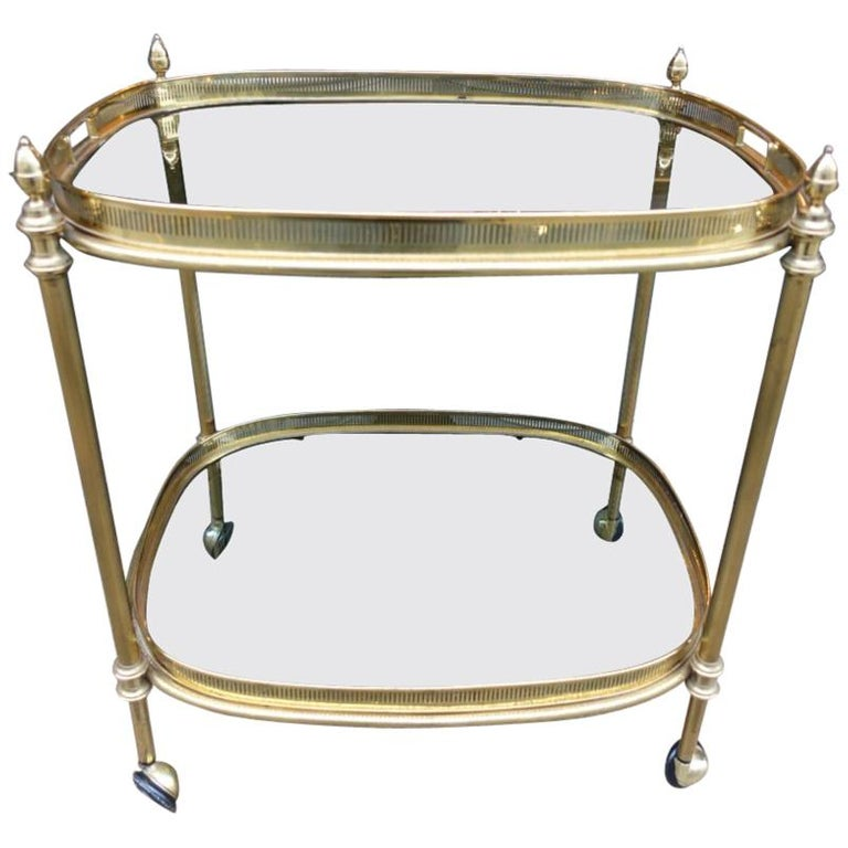Elegant 1960s French Drinks Trolley For Sale