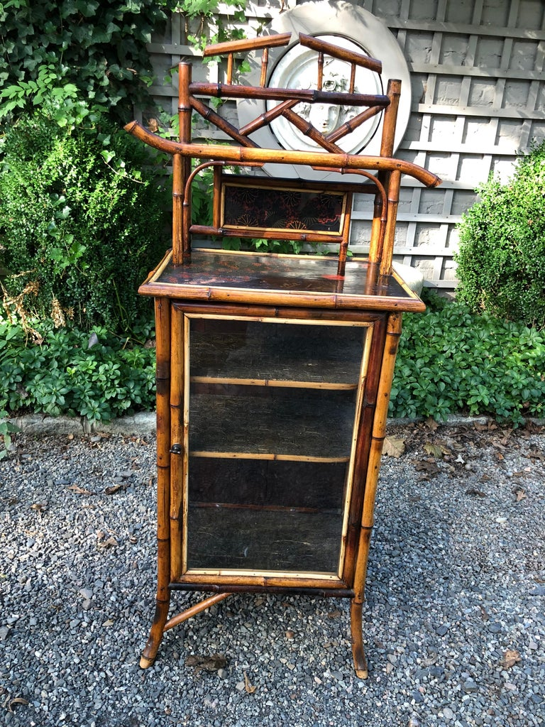 Elegant 19th Century English Bamboo Cabinet For Sale 7
