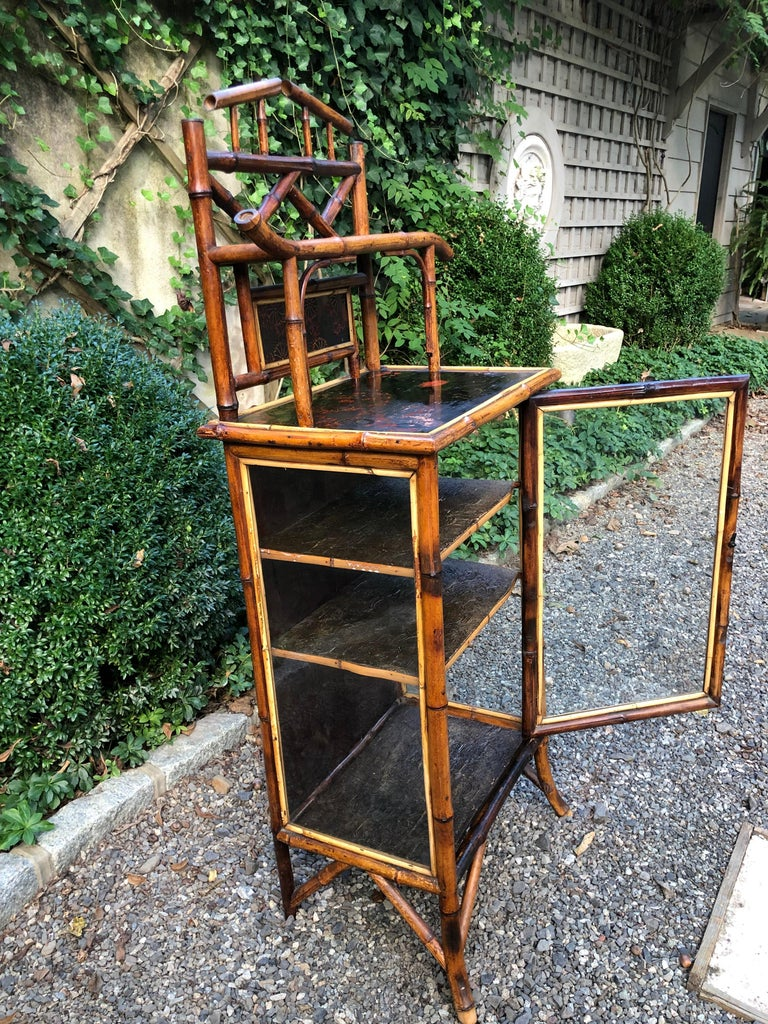 Elegant 19th Century English Bamboo Cabinet For Sale 2
