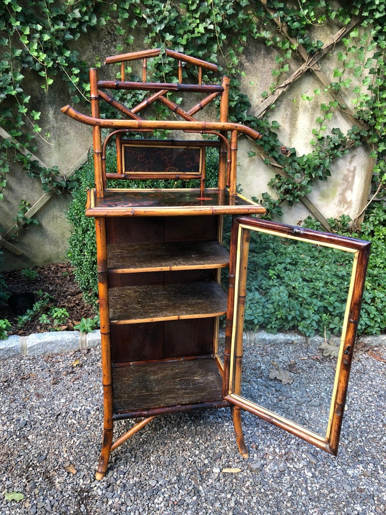 Elegant 19th Century English Bamboo Cabinet For Sale 5