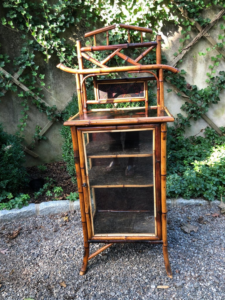 Elegant 19th Century English Bamboo Cabinet For Sale 6