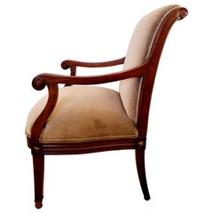 Elegant 19th Century Mahogany Neoclassical Regency Style Arm Chair with Stars