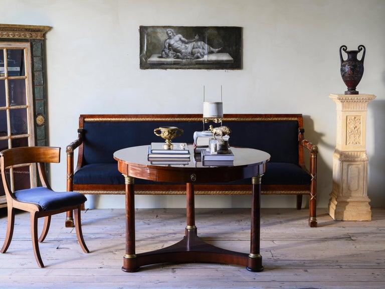 Elegant 19th century Swedish Empire sofa in its original condition, circa 1830.