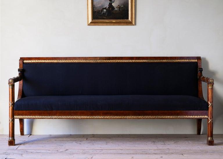 Elegant 19th Century Swedish Empire Sofa In Good Condition For Sale In Helsingborg, SE
