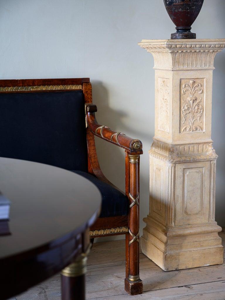 Elegant 19th Century Swedish Empire Sofa For Sale 1