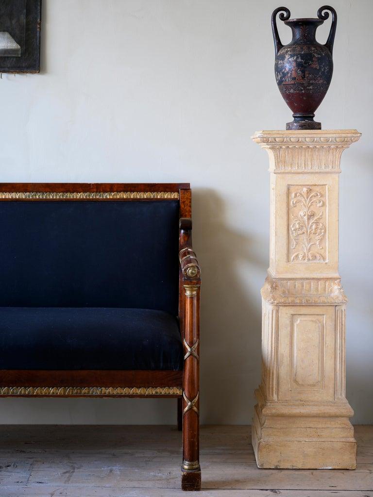 Elegant 19th Century Swedish Empire Sofa For Sale 2