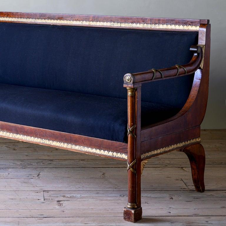 Elegant 19th Century Swedish Empire Sofa For Sale 3