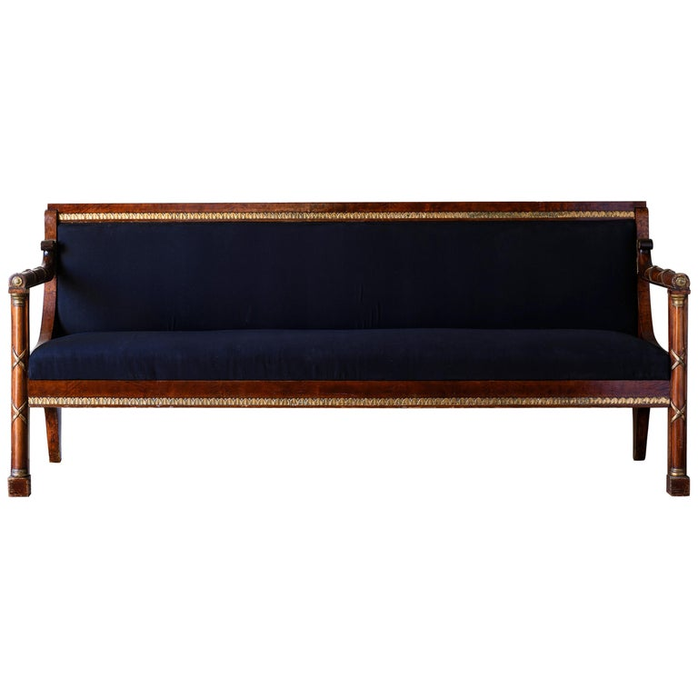 Elegant 19th Century Swedish Empire Sofa For Sale