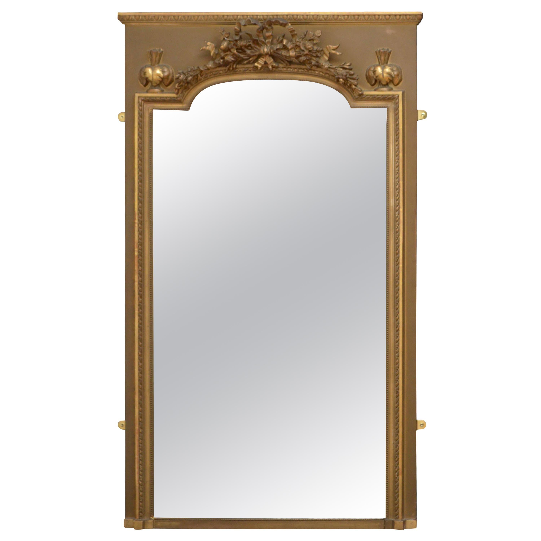Elegant 19th Century Trumeau Mirror