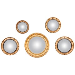 Elegant 20th Century Collection of Convex Mirrors, circa 1950