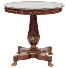 Elegant and Decorative French Empire Mahogany Center Table